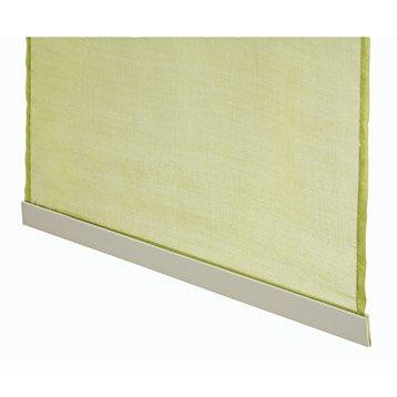 Barre de lestage pour panneau japonais, aluminium, blanc, L.50 cm