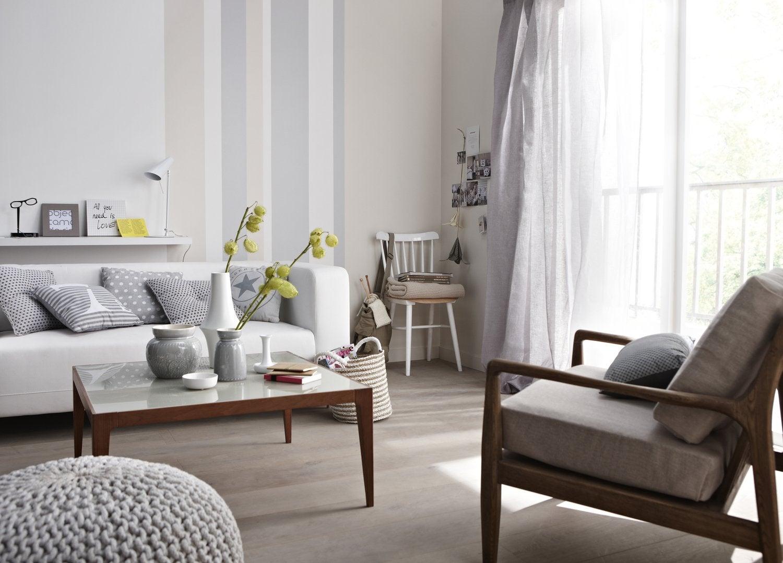 Un Salon Blanc Et Zen Leroy Merlin
