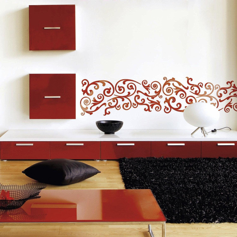 Decorer Les Murs Du Salon Avec Le Pochoir Frise Arabesque