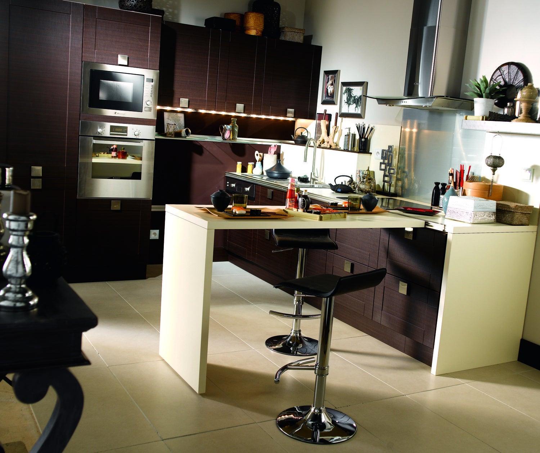 Am nager cuisine peinture sate luxens gris table for Peinture table cuisine