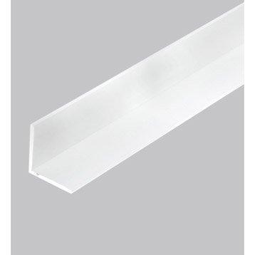Cornière égale pvc mat, L.2.5 m x l.1 cm x H.1 cm