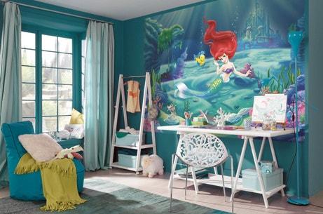 Photo murale de La Petite Sirène avec un bleu qui s'accorde à la chambre de petite fille