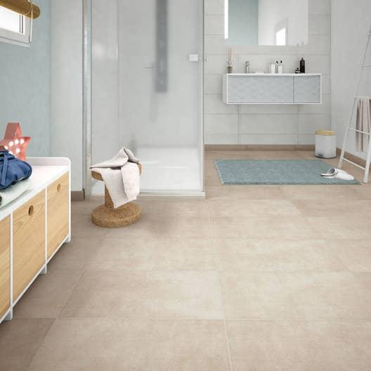 Meuble Salle De Bain Emotion ~ carrelage sol et mur sable effet b ton emotion l 30 x l 60 4 cm