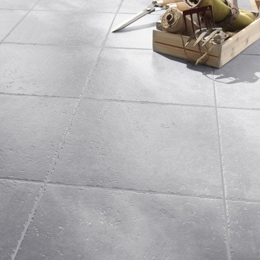 Carrelage sol gris perle effet pierre michigan x for Joint carrelage gris perle