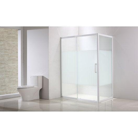 Porte de douche au meilleur prix leroy merlin - Porte de douche coulissante 120 ...