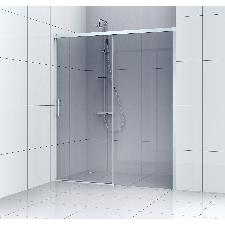 Porte de douche coulissante 100 cm, fumé, Remix | Leroy Merlin