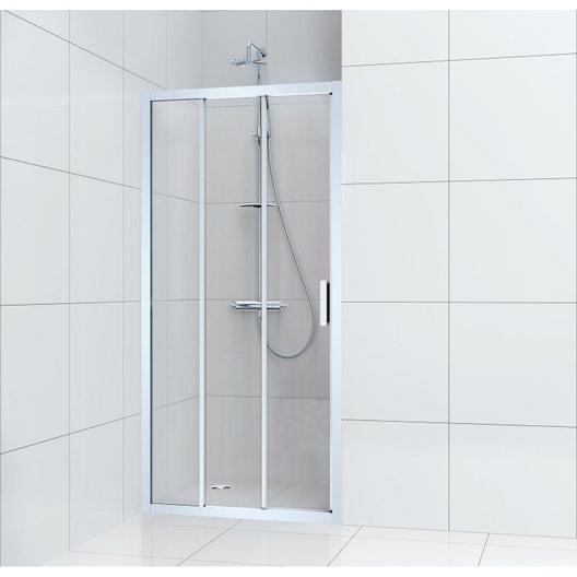Porte de douche coulissante 100 cm transparent charm leroy merlin - Paroi coulissante chambre ...