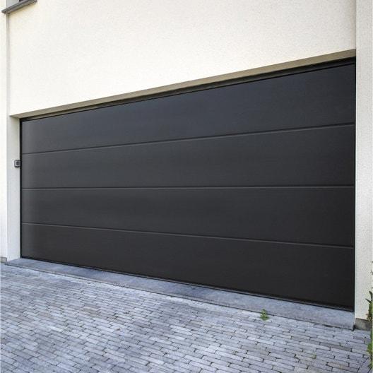 Installation De Votre Porte De Garage Sectionnelle De Hauteur 2m Et Largeur 2 4m Leroy Merlin