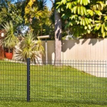 Grillage panneau Soudé Bekafor classic xl gris H.0.83 x L.2.5m, maille 100x50mm