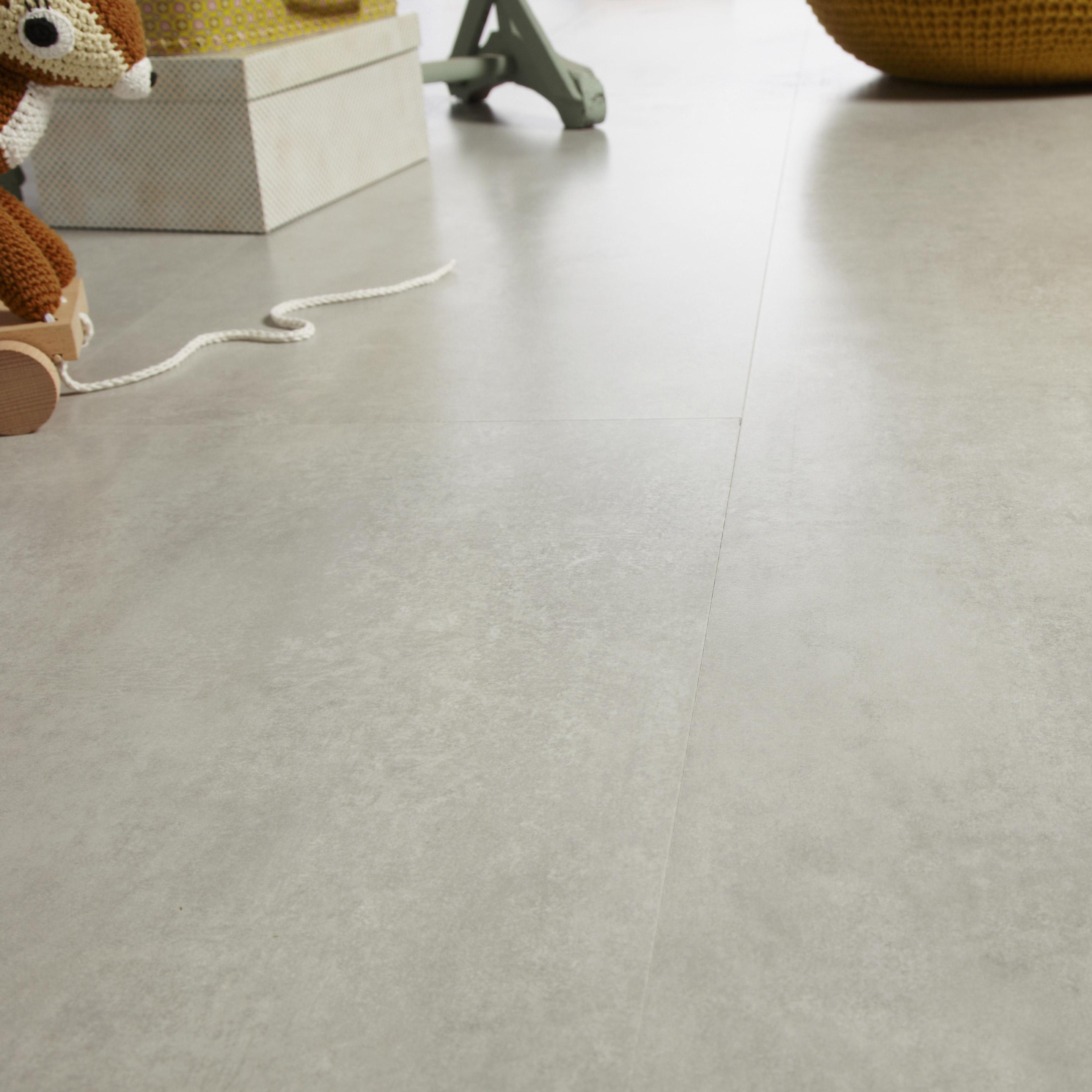 Sol stratifié intenso NOVOFLOOR Effet béton gris clair, Ep.8 mm