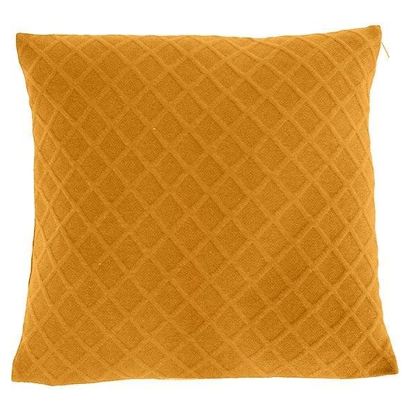 Coussin Malley, jaune  l.45 x H.45 cm