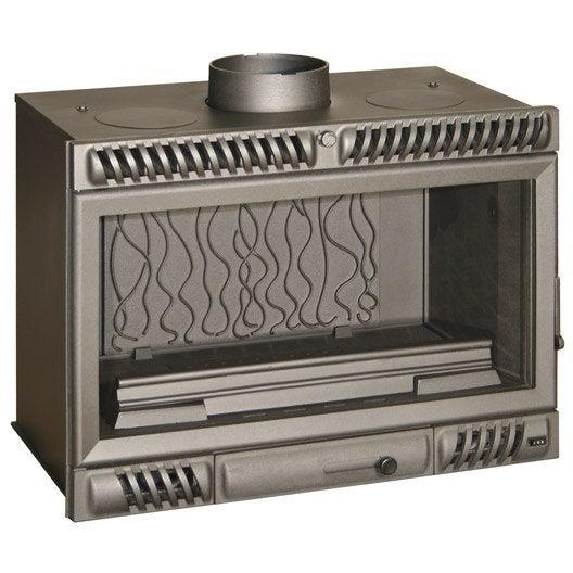 insert bois fa ade droite invicta 6680 44 18 kw leroy merlin. Black Bedroom Furniture Sets. Home Design Ideas