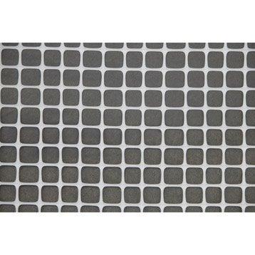 Grillage extrusion blanc H.1 x L.3 m, maille de H.10 x l.10 mm