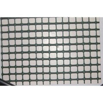 Grillage extrusion vert H.0.5 x L.3 m, maille de H.10 x l.10 mm