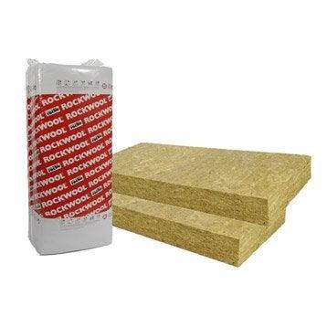 Panneau en laine de roche, Rockfaçade ROCKWOOL 1.35x0.6m, Ep.80mm