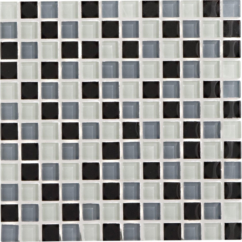 Mosaïque Mur Glass Dom Gris Galet N°3 2.2 X 2.2 Cm