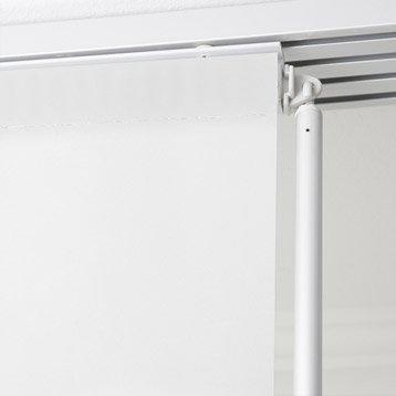 Baguette de guidage pour panneau japonais, aluminium, blanc, L.85 cm