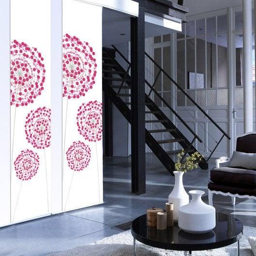 panneau japonais fleurs digitales rose x cm. Black Bedroom Furniture Sets. Home Design Ideas