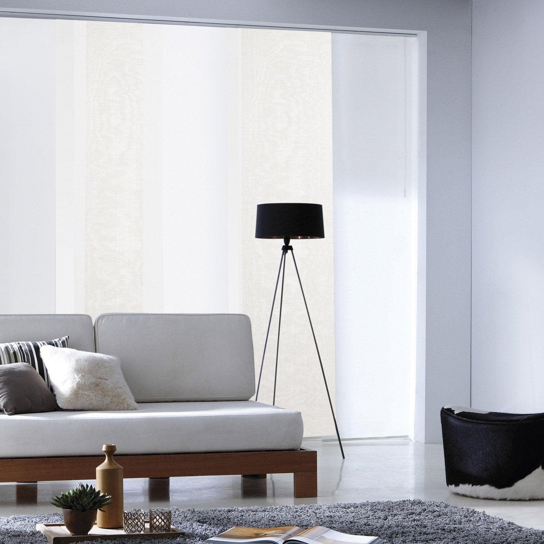 panneau japonais lin enduit naturel x cm leroy merlin. Black Bedroom Furniture Sets. Home Design Ideas