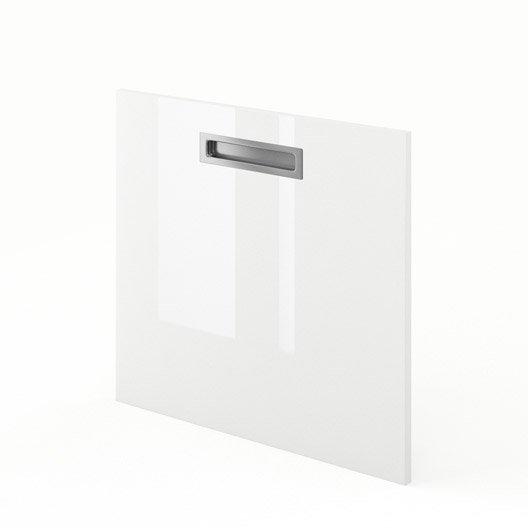 Porte pour lave vaisselle int grable de cuisine blanc for Porte de cuisine hauteur 60 cm