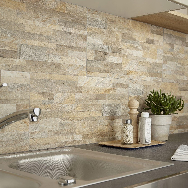 Carrelage mur marbre ocre mat l.30 x L.60.4 cm, Muretto ARTENS