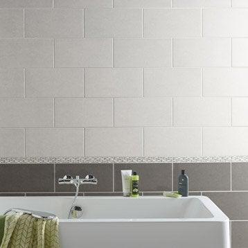 Carrelage mural et fa ence pour salle de bains et cr dence de cuisine leroy merlin for Faience salle de bain ton gris