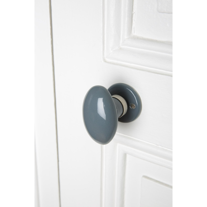 bouton de porte porcelaine inspire porcelaine de limoges nickel mat sans trou leroy merlin. Black Bedroom Furniture Sets. Home Design Ideas