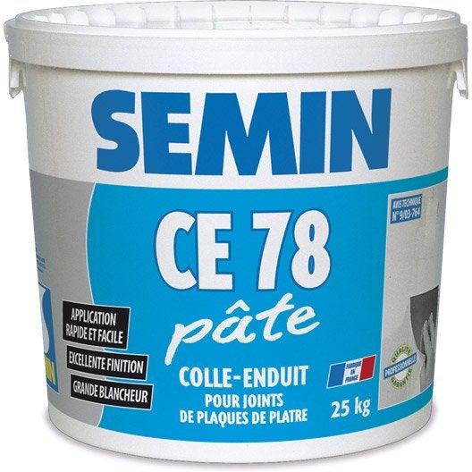 enduit joint plaque plâtre ce78 semin, pâte 25kg   leroy merlin