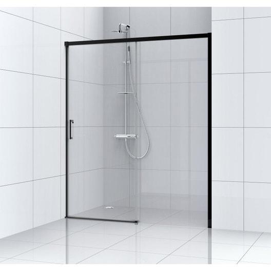 porte de douche coulissante l 100 cm verre transparent remix leroy merlin. Black Bedroom Furniture Sets. Home Design Ideas