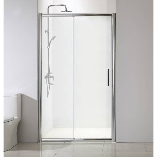 porte de douche coulissante 120 cm transparent quad leroy merlin. Black Bedroom Furniture Sets. Home Design Ideas