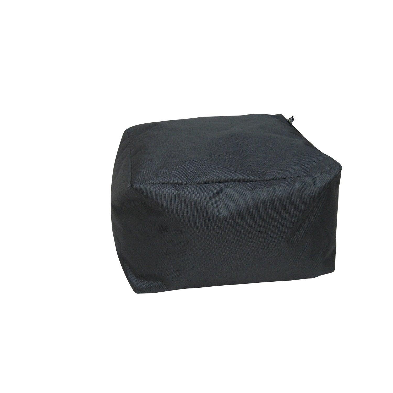 Pouf de sol gris anthracite Blok, L.50 x l.50 cm