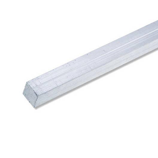 Carr plein aluminium brut l 1 m x l cm x h cm leroy merlin - Profile aluminium rectangulaire ...
