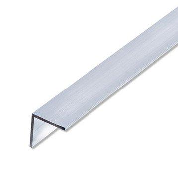 Cornière égale aluminium brut, L.2.5 m x l.1.95 cm x H.1.95 cm