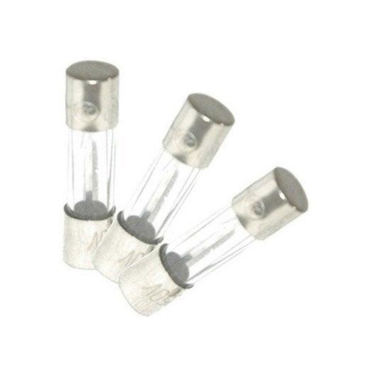 Lot de 3 fusibles verre 2 A, 5 x 20 mm