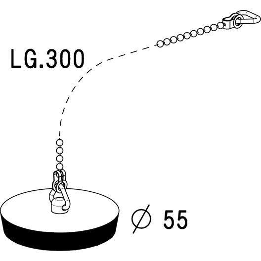 bouchon pour vier anneau et chaine 30 cm. Black Bedroom Furniture Sets. Home Design Ideas
