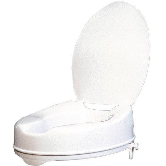 rehausse wc avec couvercle fixer plastique leroy merlin. Black Bedroom Furniture Sets. Home Design Ideas