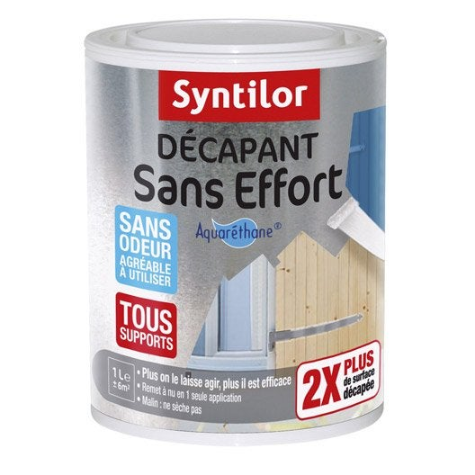 D capant universel syntilor sans effort 1 l leroy merlin for Decapant peinture bois