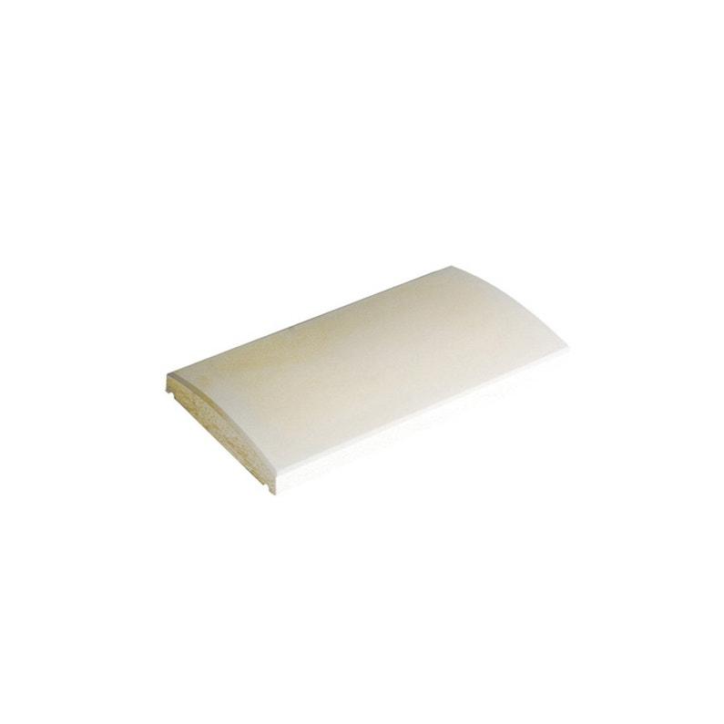 Couvre Mur Arrondi Couvre Mur Lisse Arrondi Lisse Blanc H5 X L28 X P50 Cm