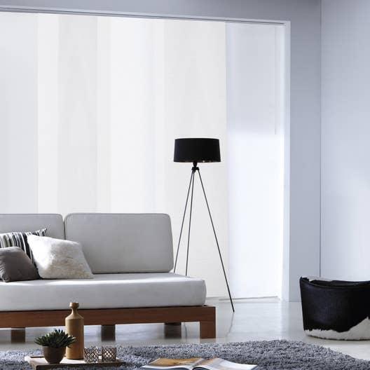 panneau japonais loft blanc x cm leroy merlin. Black Bedroom Furniture Sets. Home Design Ideas