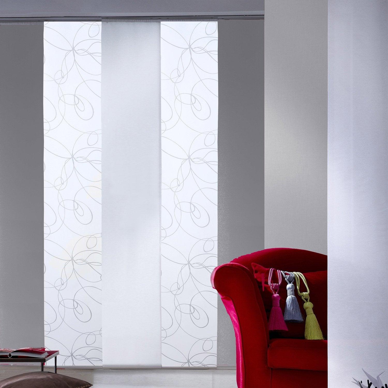 panneau japonais zig zag blanc x cm leroy. Black Bedroom Furniture Sets. Home Design Ideas