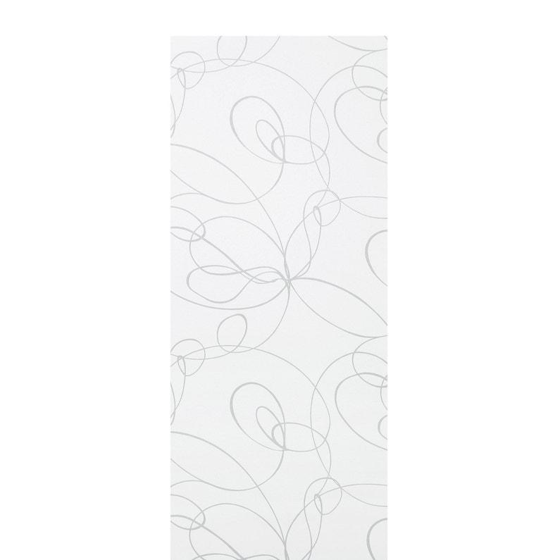 Panneau Japonais Zig Zag Blanc H 250 X L 50 Cm