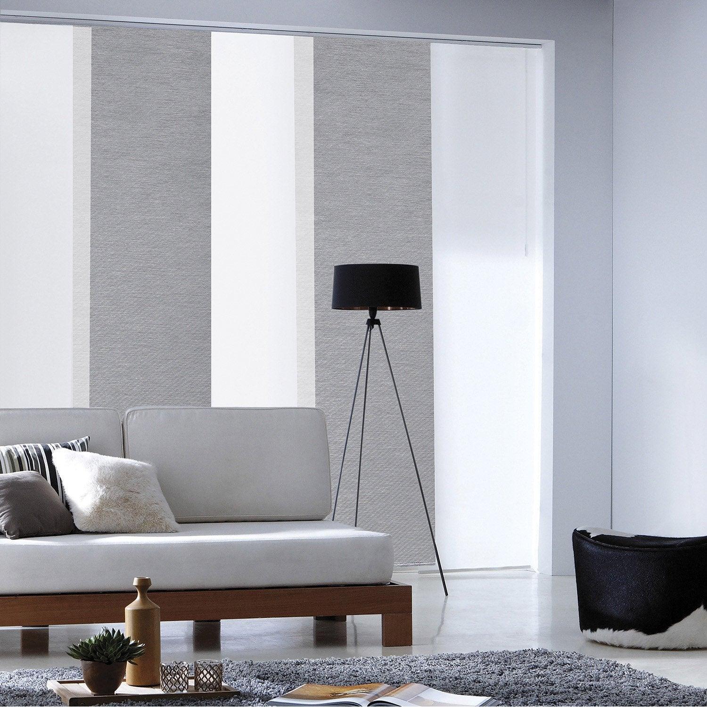 panneau japonais loft gris x cm leroy merlin. Black Bedroom Furniture Sets. Home Design Ideas