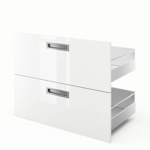 2 tiroirs de cuisine blanc play x x cm leroy merlin - Tiroir cuisine 30 cm ...