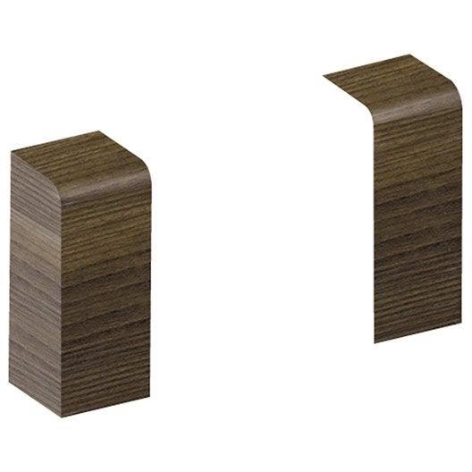 lot de 2 embouts weng pour plinthe h 10 x p 3 7 cm leroy merlin. Black Bedroom Furniture Sets. Home Design Ideas