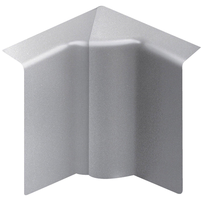 Angle Intérieur Aluminium Pour Plinthe, H. 10 X P.5.5 Cm