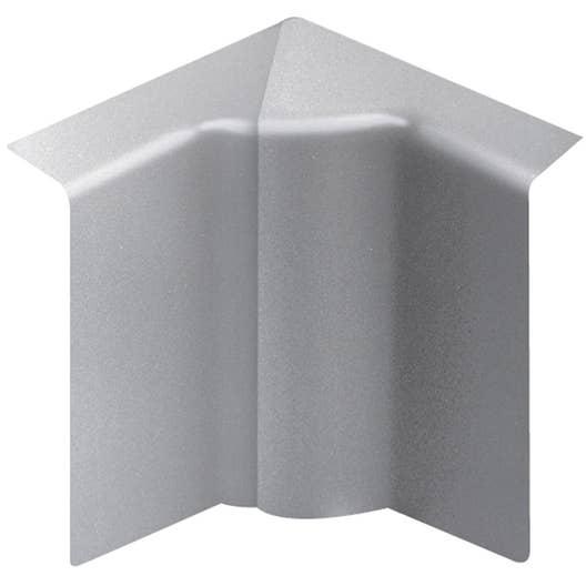 angle int rieur aluminium pour plinthe h 10 x p 5 5 cm. Black Bedroom Furniture Sets. Home Design Ideas