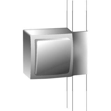 Adaptateur blanc pour moulure, H. 9.4 x P.3.8 cm