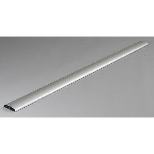 cache-câble aluminium pour moulure, h.100 x p.7 cm | leroy merlin