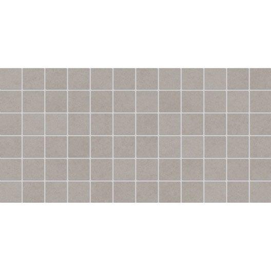 Faïence mur gris, Décor tulli l.30 x L.60 cm