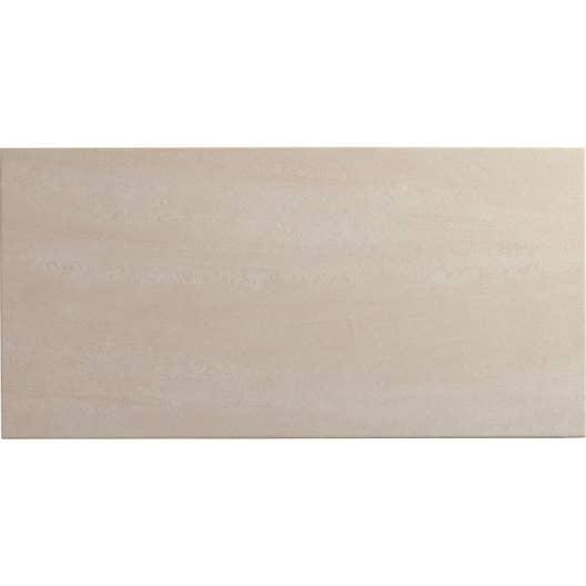 Faience Salle De Bain Ivoire ~ carrelage sol et mur ivoire effet pierre trevise l 30 x l 60 4 cm